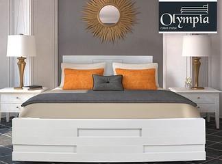 מיטה זוגית עם בסיס עץ מלא