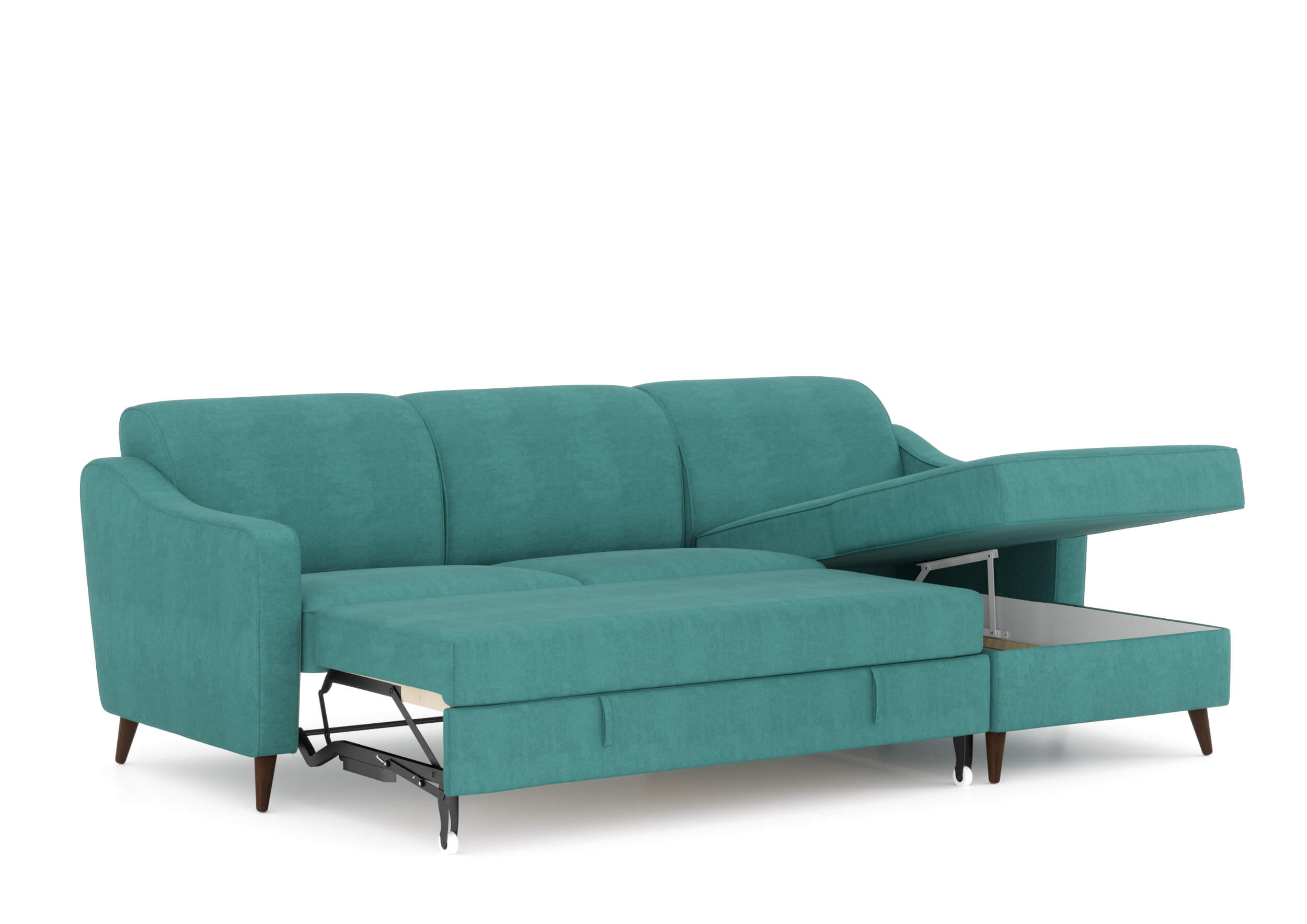 8 שמרת הזורע: ספה פינתית נפתחת למיטה דגם זולה