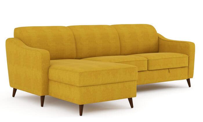 4 שמרת הזורע: ספה פינתית נפתחת למיטה דגם זולה