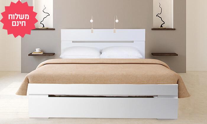 4 מיטה כולל מזרן קפיצים | הובלה והרכבה חינם