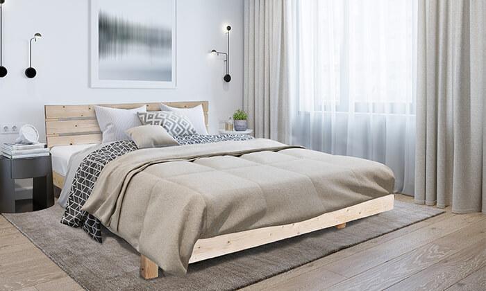 5 מיטה מעץ מלא