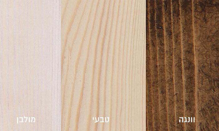 4 מיטה מעץ מלא