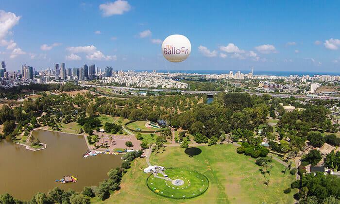 5 TLV Balloon טיסה בכדור פורח, בפארק הירקון