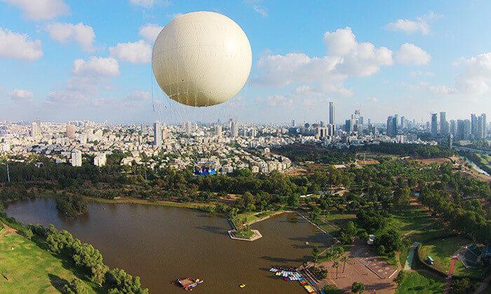 2 TLV Balloon טיסה בכדור פורח, בפארק הירקון