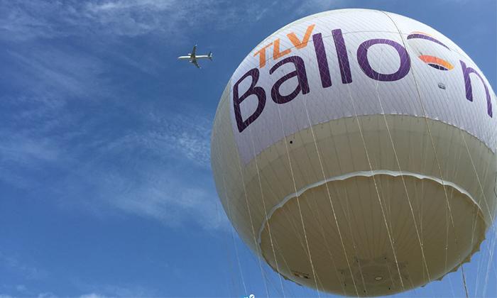 3 TLV Balloon טיסה בכדור פורח, בפארק הירקון