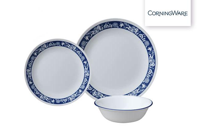 2 סט צלחות CORELLE® קורנינג ל-4 סועדים
