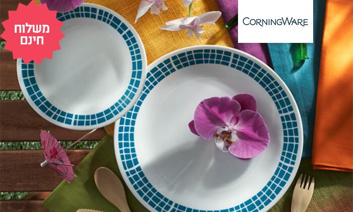 2 סט צלחות 18 חלקים CORELLE® קורנינג - משלוח חינם!