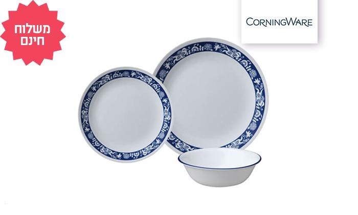 2 סט צלחות CORELLE® מבית קורנינג ל-6 סועדים
