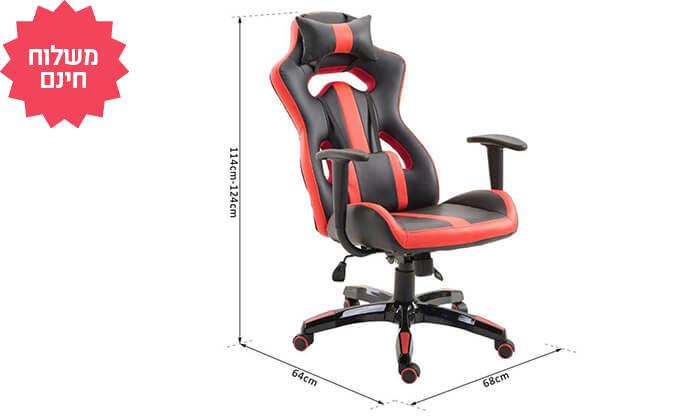 6 כיסא גיימרים אורתופדי