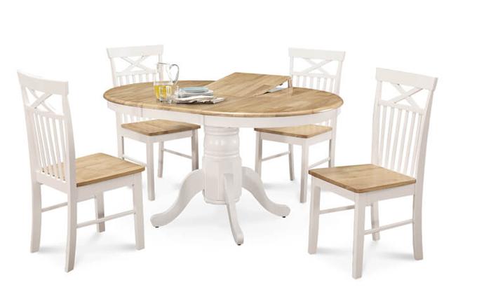 6 שמרת הזורע: פינת אוכל כוללת שולחן עגול ו-4 כיסאות