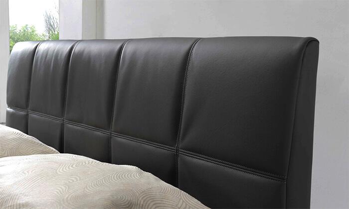 4 שמרת הזורע: מיטה זוגית מרופדת עם ארגז אחסון