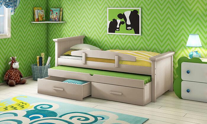 7 שמרת הזורע: מיטת ילדים עם מיטת חבר
