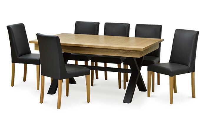 3 שמרת הזורע: פינת אוכל נפתחת עם 6 כסאות