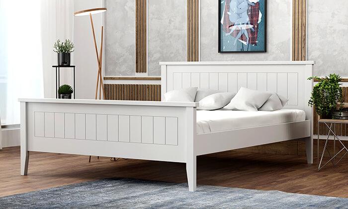 4 שמרת הזורע: מיטה עם בסיס עץ מלא