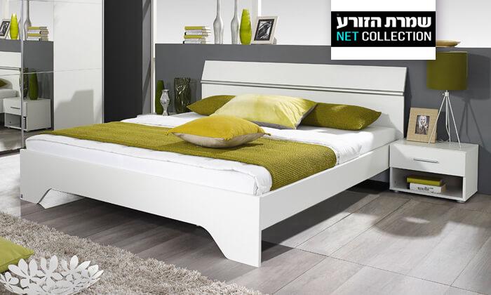 2 שמרת הזורע: מיטה זוגית ושידות לילה תואמות