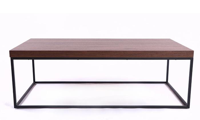 4 שולחן קפה מלבני מעץ