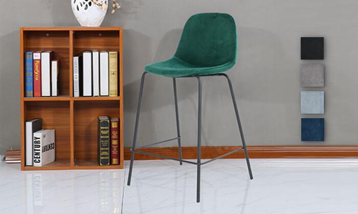 2 כיסא בר בריפוד קטיפה