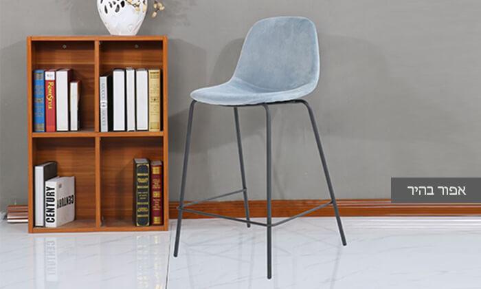 3 כיסא בר בריפוד קטיפה
