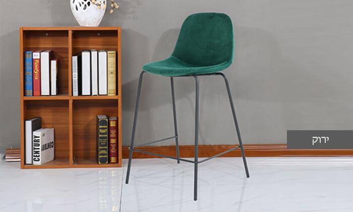5 כיסא בר בריפוד קטיפה
