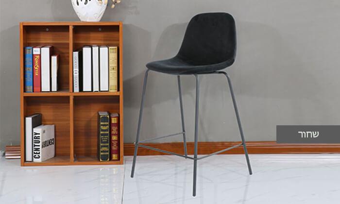 7 כיסא בר בריפוד קטיפה