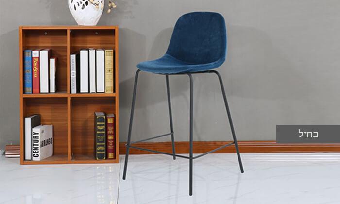 4 כיסא בר בריפוד קטיפה