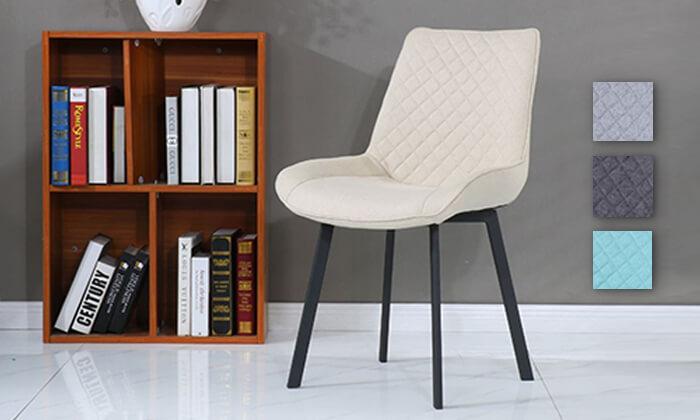 2 כיסא אוכלעם מושב מרופד