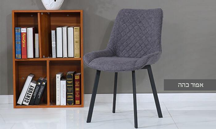 3 כיסא אוכלעם מושב מרופד