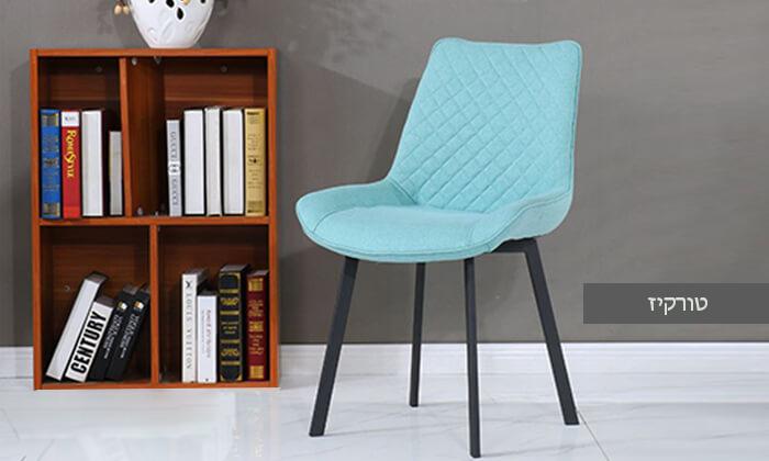 5 כיסא אוכלעם מושב מרופד