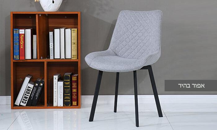 4 כיסא אוכלעם מושב מרופד