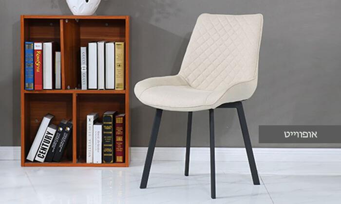 6 כיסא אוכלעם מושב מרופד
