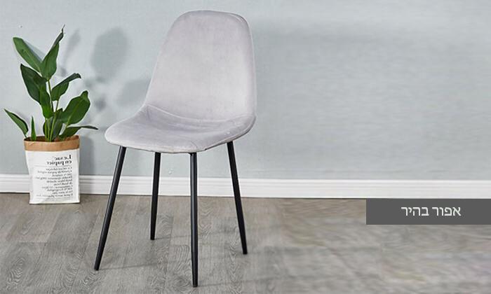 3 כיסא לפינת אוכל בריפוד קטיפה