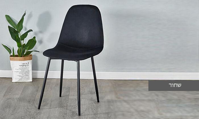 5 כיסא לפינת אוכל בריפוד קטיפה