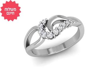 טבעת יהלומים מעוצבת 14K
