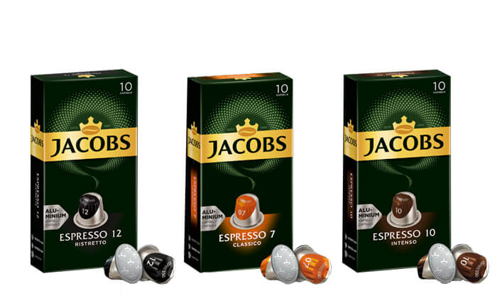 2 קפסולות קפה של ג'יקובס