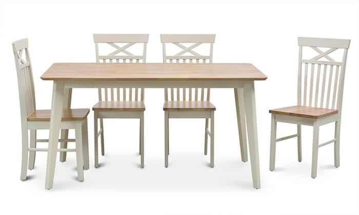 7 שמרת הזורע: פינת אוכל כוללת שולחן ו-4 או 6 כסאות