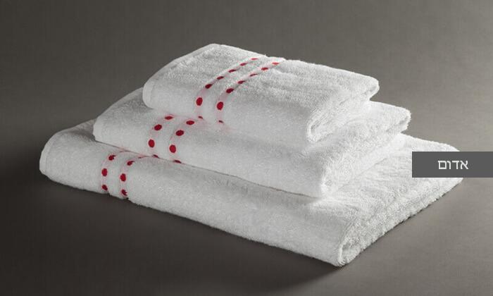 3 מגבת רחצה מעוטרת ערד טקסטיל, משלוח חינם