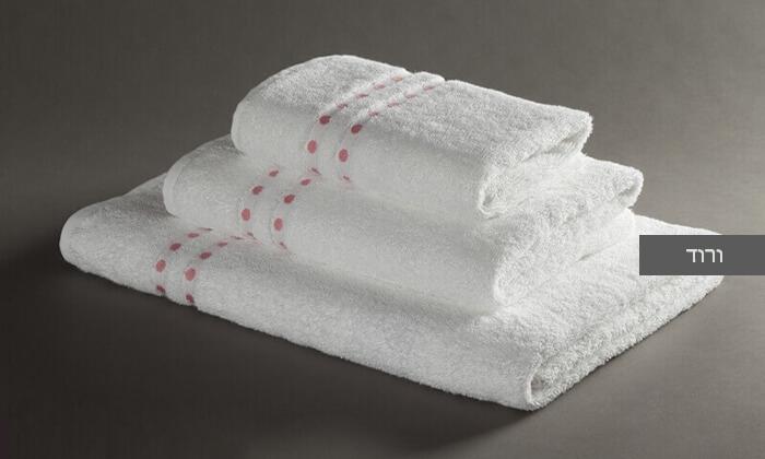 4 מגבת רחצה מעוטרת ערד טקסטיל, משלוח חינם