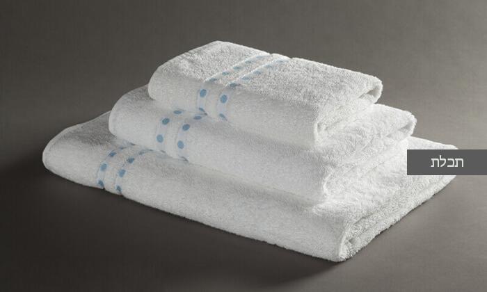 6 מגבת רחצה מעוטרת ערד טקסטיל, משלוח חינם