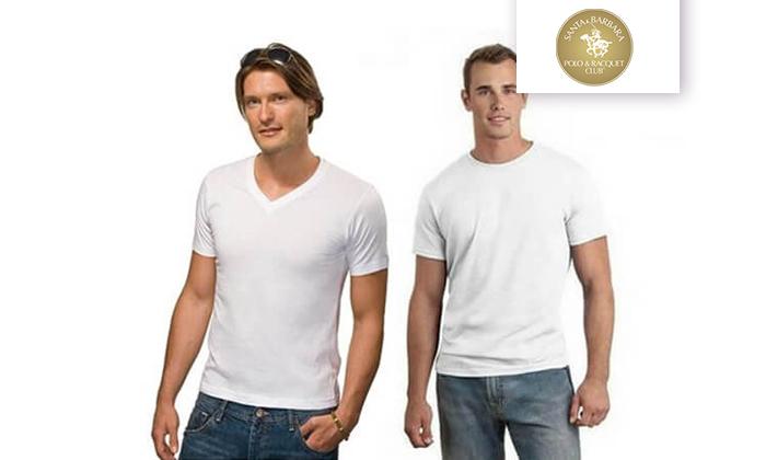 2 מארז 8 חולצות טי לגברים SANTA BARBARA, משלוח חינם