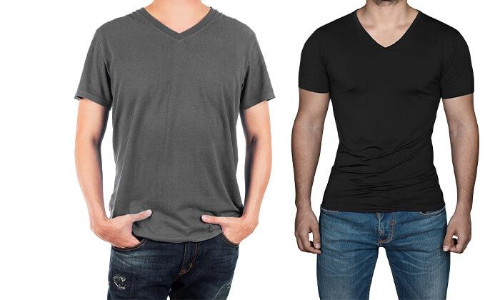 3 6 חולצות בייסיק לגבר ולאישה Hanes & FRUIT OF THE LOOM