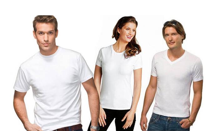 6 6 חולצות בייסיק לגבר ולאישה Hanes & FRUIT OF THE LOOM