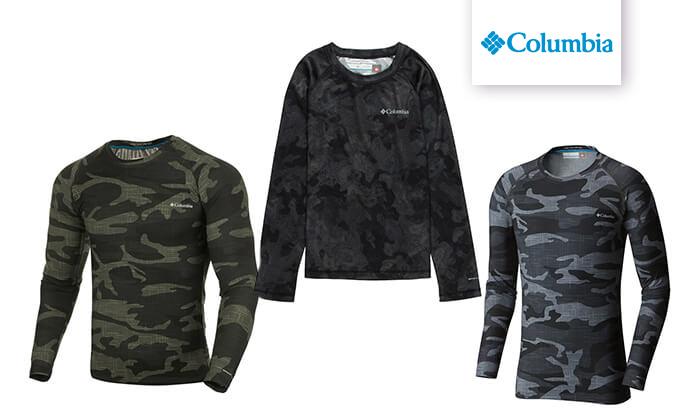 2 חולצה תרמית ארוכה Columbia לגברים