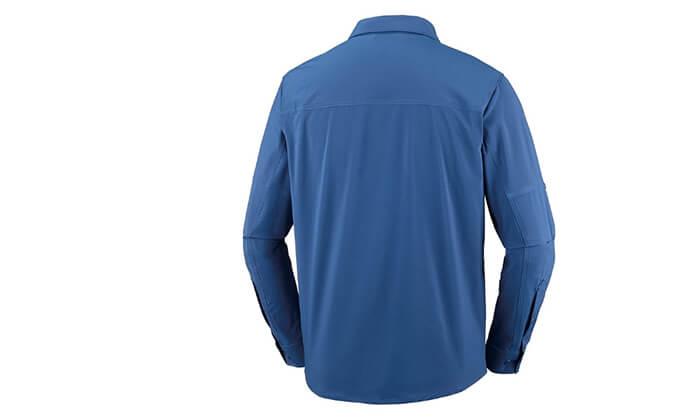 3 חולצה מכופתרת ארוכה לגברים Columbia, משלוח חינם
