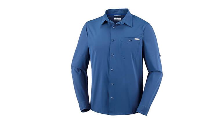 5 חולצה מכופתרת ארוכה לגברים Columbia, משלוח חינם