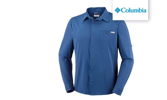 2 חולצה מכופתרת ארוכה לגברים Columbia, משלוח חינם