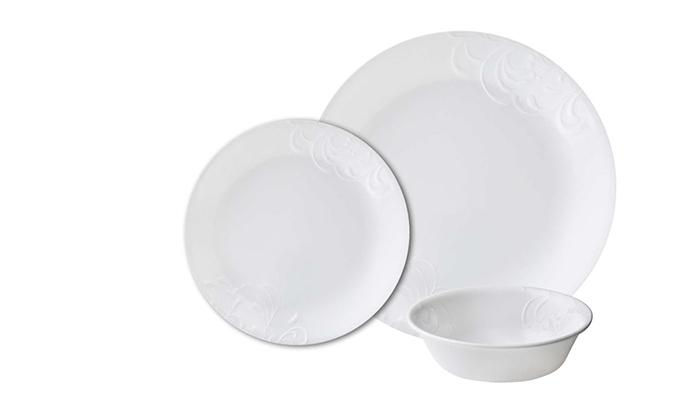 4 סט צלחות CORELLE® קורנינג ל-6 סועדים, משלוח חינם