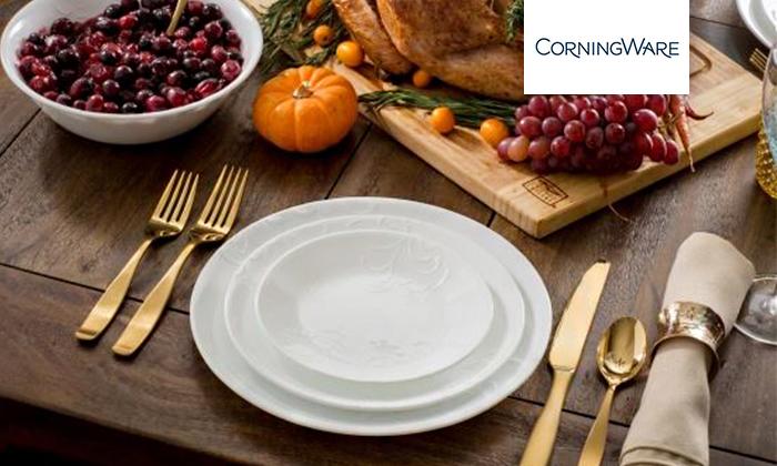 2 סט צלחות CORELLE® קורנינג ל-6 סועדים, משלוח חינם