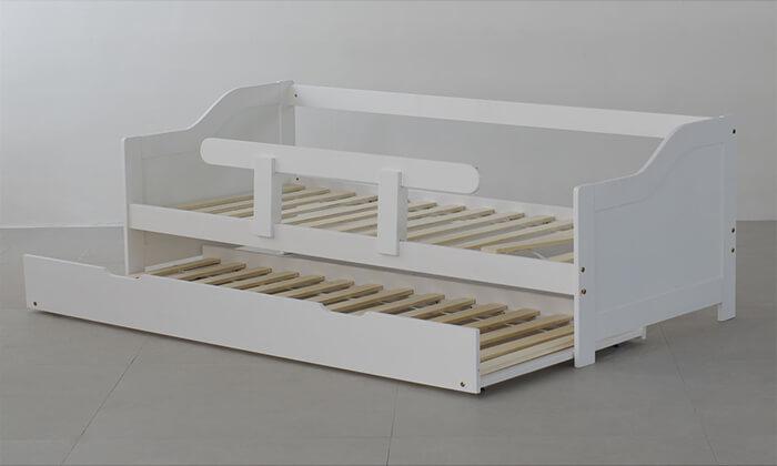 4 מיטת ילדים נפתחת מעץ מלא