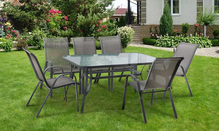 3 פינת אוכל עם 6 כיסאות לגינה Australia Camp