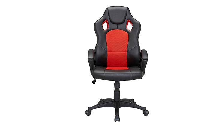 4 כיסא גיימינג עם ריפוד דמוי עור